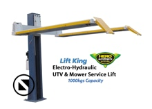 A great hoist for servicing ride-on lawnmowers, UTV's and ATV's. Manual-Release Locks  Australian, German TUV  & Euro Certified  1000kgs Capacity